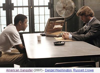 O Gângster, cena - Denzel Washington, Russell Crowe