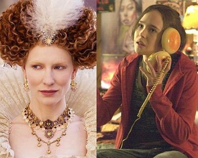 Cate Blanchett em Elizabeth - A Era de Ouro / Ellen Page em Juno