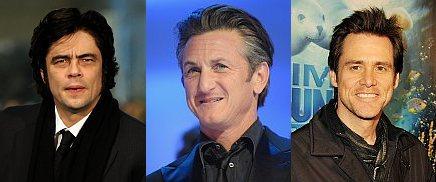 Benicio Del Toro, Sean Penn e Jim Carrey