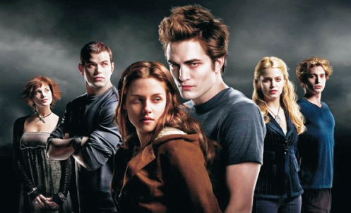 Robert Pattinson e o elenco de Crepúsculo