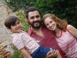 Do elenco do filme sobre Lula, o menino Matheus Braga, Rui Ricardo Diaz e Juliana Baroni