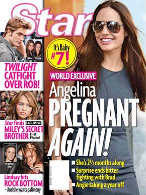 Jolie na capa da revista Star