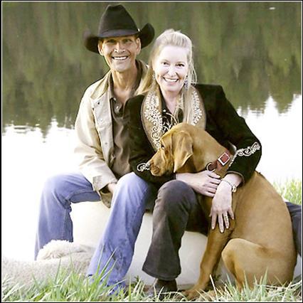 Patrick Swayze e a esposa Lisa Niemi