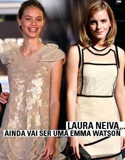 Laura Neiva e Emma Watson