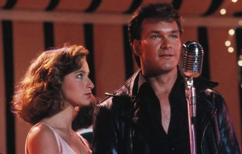 Patrick Swayze em Dirty Dancing, com Jennifer Grey, 1987