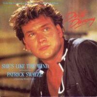 Capa do disco de Swayze com a canção 'She's Like de Wind'