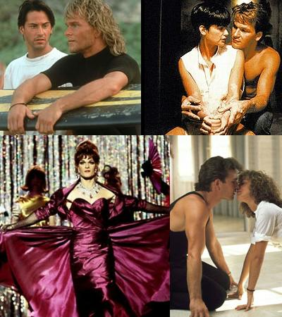 Quatro momentos de Patrick Swayze: Caçadores de Emoção, Ghost, Para Wong Foo e Dirty Dancing