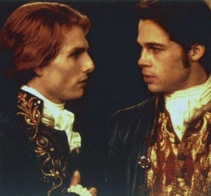 Tom Cruise e Brad Pitt em Entrevista Com o Vampiro