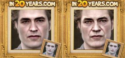 Robert Pattinson em 2030 e 2040 (simulação)