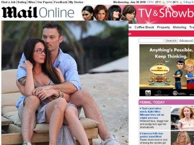 Megan Fox e Brian Austin Green, foto do Daily Mail