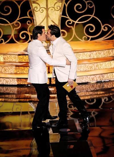 Javier Bardem e Josh Brolin (foto: Mark J. Terrill/AP)