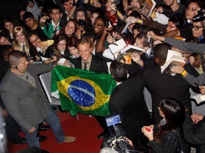Tom Felton no Rio, em foto de Felipe Assumpção (AgNews)