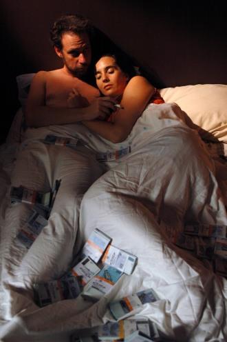 Primeiro episódio, com Bruce Gomlevsky e Julia Carrera (foto de Juliana Torres)