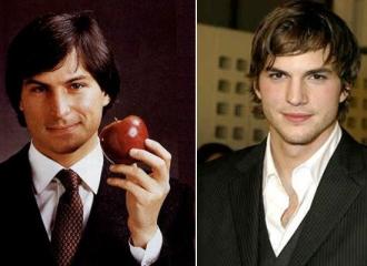 Steve Jobs e Ashton Kutcher