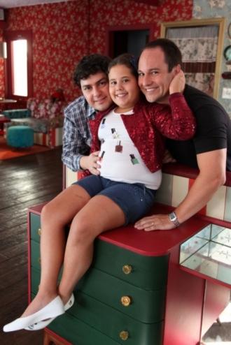 Ana Karolina Lannes com os pais João Paulo (esq.) e Fábio