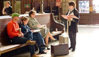 Nora Ephron no set de Julie e Julia, com Meryl Streep (2009)