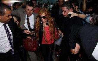 Lindsay Lohan em São Paulo em 28.03.2013