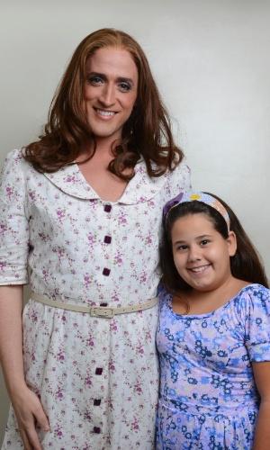 Ana Karolina Lannes nos bastidores do filme Minha Mãe é Uma Peça, com Paulo Gustavo