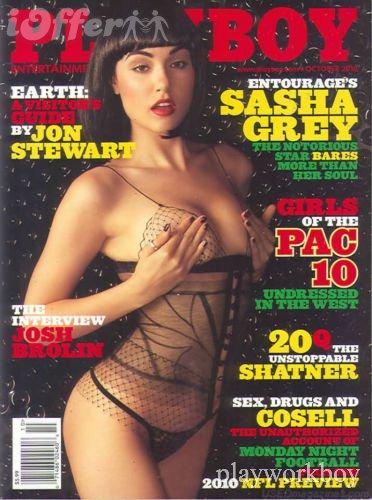 Sasha Grey na Playboy em outubro de 2010