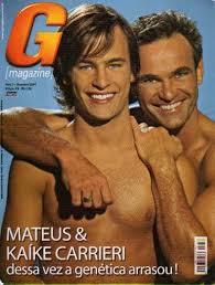 Mateus Carrieri na capa da G Magazine com o filho