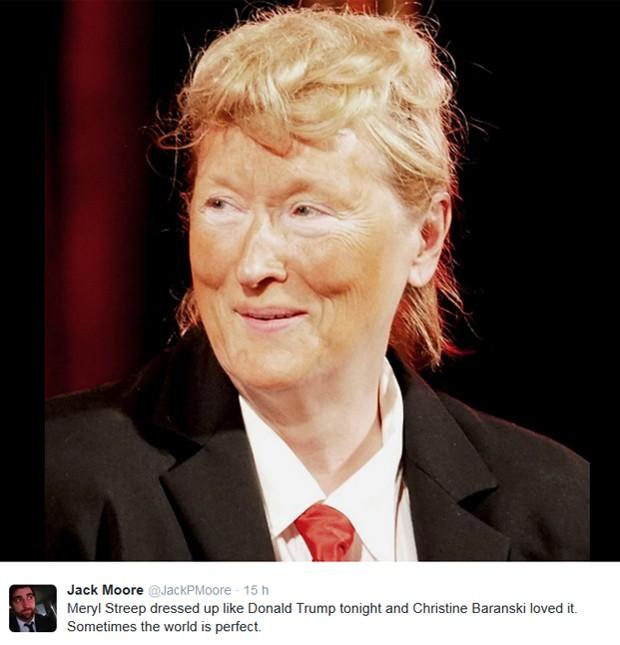 ... americanas: Meryl Streep parodia Donald Trump | Cinema é Magia