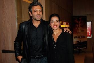 Domingos Montagner  e a esposa, Luciana Lima