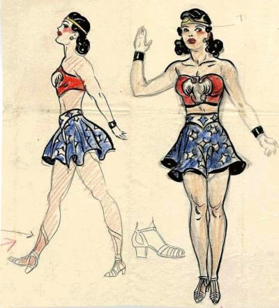 Primeiro esboço, de 1941, desenhado pelo artista H.G. Peter, sob as orientações do escritor William Moulton Marston