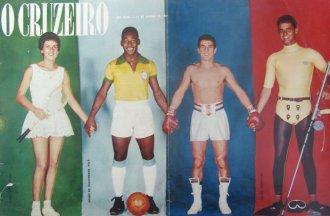 Maria Esther Bueno, Pelé, Éder Jofre e Bruno Hermanny, 1961